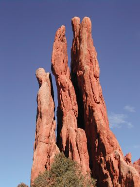 Three graces for Garden of the gods rock climbing